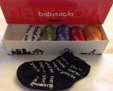 TRUMPETTE NEW YORK Multicolor 6 Pair Baby Socks 0-12M Unisex Gift NIB