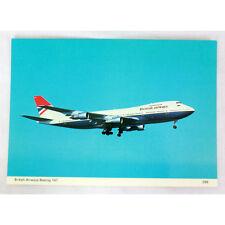 Británico Airways - Boeing 747-200 - Avión Tarjeta Postal - Bueno Calidad