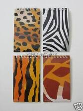 12 Wild Animal Print Note Book Memo Pad Zoo Safari Party Goody Bag Favor Supply