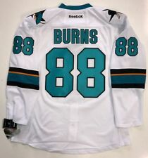 BRENT BURNS SAN JOSE SHARKS EDGE AUTHENTIC RBK WHITE JERSEY SIZE 54