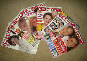Job Lot bundle of 6 THE OFFICIAL MAGAZINE OF CORONATION ST 1995-96