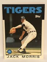 1986 Topps Tiffany Jack Morris baseball card Detroit Tigers NrMt-Mint  #270 HOF