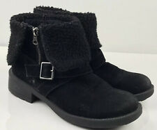 Rocket Dog Black Suede Leather ankle length boots size 5 38 Chelsea low heel