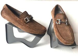 Salvatore Ferragamo Parigi Suede Driving Loafers. Size 10.5.