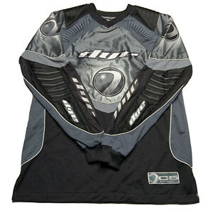 Dye Paintball Black Gray Padded Long Sleeve Jersey Shirt Core Division 04 Youth