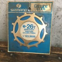 Vintage Shimano 26t Sprocket Gold Skip Tooth 26 Freewheel 12-2606 NEW NOS