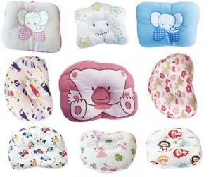 Soft Cotton Newborn Baby Flat Head Shape Infant Pillow Sleeping Support Cushion