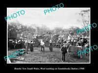 OLD LARGE HISTORIC PHOTO OF BOURKE NSW, WOOL WASHING ON GUNDABOOKA STATION c1900