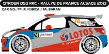 DECALS 1/43 CITROËN DS3 WRC #74 - KUBICA - RALLYE DE FRANCE 2013 -MF-ZONE D43254