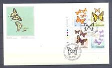 CANADA 1988, Butterflies, set of 4, FDC (75)