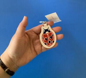 2 X Cath Kidston Lucky Ladybird Keychain Key Fob Magical Memories - BNWT