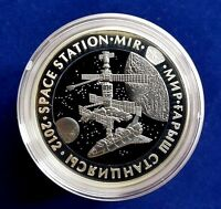 Kazakhstan:Bi-color Ag+500 tenge *SPACE STATION MIR *2012* Tantalum, Proof Coin