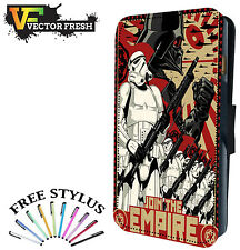 Star Wars Join The Empire Vader Storm Trooper - LEATHER FLIP PHONE CASE COVER