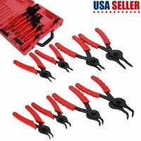Snap Ring Plier Set 11pcs Mechanic PRO Circlips w/ Case Car Truck Motorcycle New
