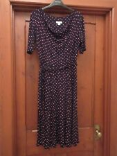 Monsoon spotted black dress in size 10