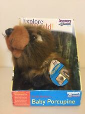 Discovery Channel Plush Wooster the Baby Porcupine, Wild Babies Series New