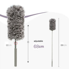 Telescopic Long Duster Extending Handle Feather Metal Home Dust Cleaner New