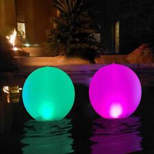 Luz Flotante LED Bola de Jardín Decorativa RGB Mando Exterior bola piscina 40cm