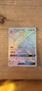 POKEMON Machamp GX 154/147 Rainbow Secret Rare Holo Full Art Shiny Card