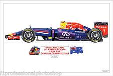 Daniel Ricciardo 2014 Canadian GP win - ltd ed/250 art print A3 signed by artist