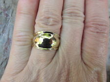 14KT Yellow Gold High Polished Shiny Dome Design Cigar Band Ring.....NEW*