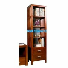 KraftNDecor Wooden Display Rack cum Living Room Cabinet in Brown Colour