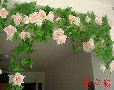 1pc Artificial Fake Silk Rose Flower Ivy Vine Hanging Garland wedding Home Decor