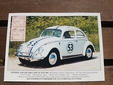 VW Beetle Herbie Walt Disney Volkswagen Beetle 1957 Postcard Vintage Ad Gallery