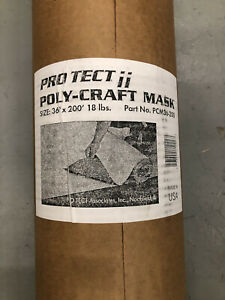 3 ft x 200 ft Pro Tect Poly Craft Mask PCM36-200. SHIPS FREE