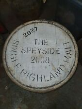 More details for the speyside 2008 single highland malt scotch whisky oak wooden barrel lid