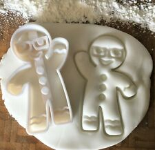 Gingerbread Man with Glasses Cookie Cutter / Fondant / Icing