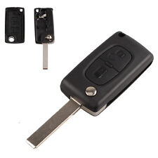 2 Buttons Auto Remote Flip Car Key Fob Replace Shell Case for Peugeot 308 407