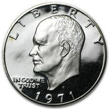 1971 Silver Proof Eisenhower Dollar Extremely Nice Example No Toning