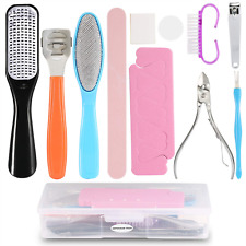 11 in 1 Professional Pedicure Tools Kit?Foot Scrub Care Tool, Pedicure Rasp Foot