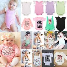 Newborn Baby Boys Girls Bodysuit Romper Jumpsuit Babygrow Cotton Outfits Clothes