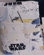 NWT Pottery Barn Kids Millennium Falcon full sheet set sheets cotton percale