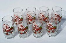 """Set of 8  Strawberry Shortcake 1980 Glasses 5"""" There's More Where This Came From"""