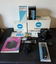 Minolta X700 35mm SLR, Toyo 28-75mm Lens, DX-700 Flash and boxes