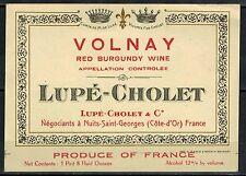 Etiquette de Vin - alcool - Volnay - Lupé-Cholet - New  - Réf.n°01