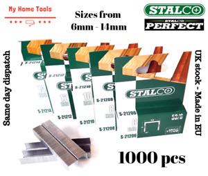 6/8/10/12/14 1000 PCS STAPLES 53A HEAVY DUTY Gun Staple Upholstery Galvanized
