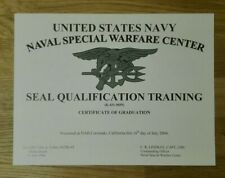 URKUNDE Navy Seal, SEAL Qualification Training, US-Spezialkräfte, Kampfschwimmer