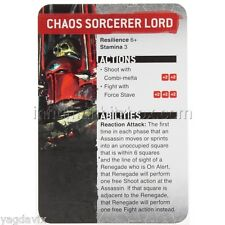 SAS16 CHAOS SORCERER LORD REFERENCE CARD ASSASSINORUM WARHAMMER 40,000 BITZ W40K