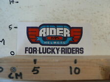 STICKER,DECAL RIDER MPA HELMETS FOR LUCKY RIDERS MPA MOTO MOPED ? A
