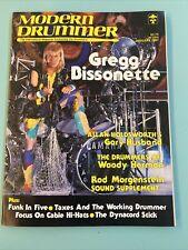 1987 January Modern Drummer Magazine Gregg Bissonette Gary Husband