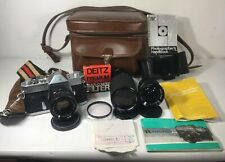 Yashica TL Electro X 35mm SLR Film Camera with lenses and accesories