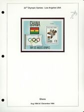 GHANA Specialized SOCCER FOOTBALL Album Page Lot #189 - SEE SCAN - $$$