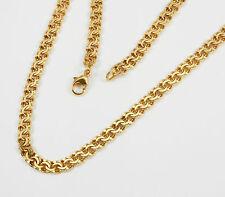 MACIZO Garibaldi Collar Oro Amarillo 585 ,23,5 GRAMOS, Largo 45 cm; Made in