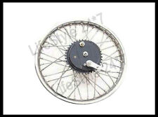 "Vintage 19"" Rear Wheel Rim Complete With Spoke Half Width Hub BSA Norton Enfield"