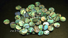 100+5pcs Free 10.0mm Paua Abalone Dots,Colorful/Shiny Front, A Grade