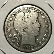1910-S  SILVER BARBER HALF DOLLAR  COIN